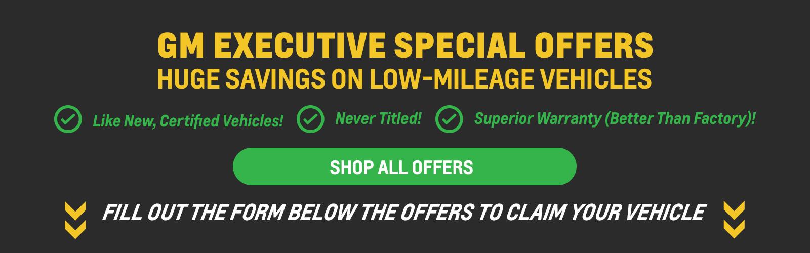 Executive Specials