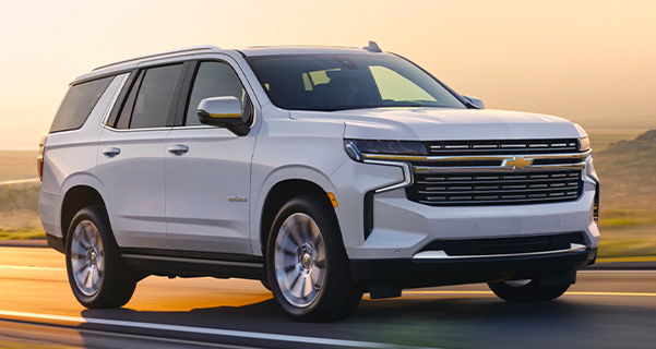 2021 Tahoe Front Side Profile Driving