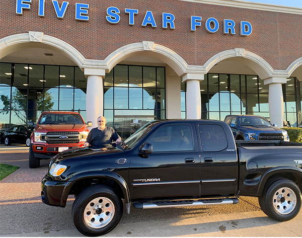 James, Our March #FiveStarFordFreebie Winner And His FREE Toyota Tundra!